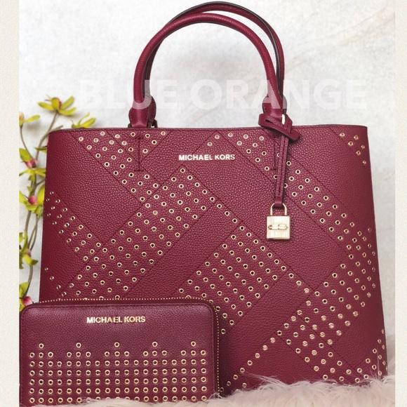 fecaf6222ad3 MICHAEL Michael Kors Bags   Michael Kors Lg Embellished Adele Tote ...